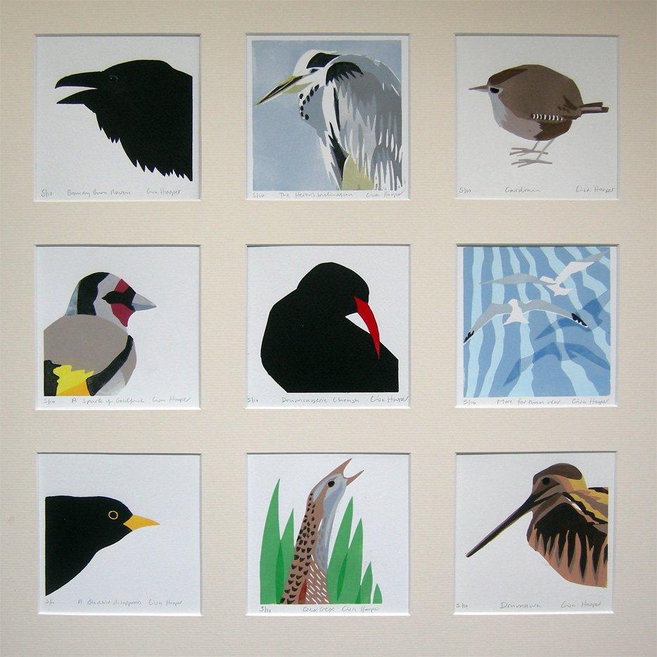 Composite bird print
